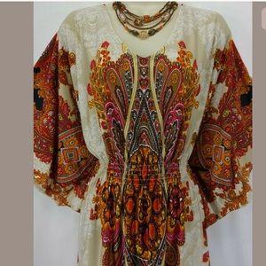 Dress Barn Dresses - 16W 1X▪️PAISLEY BUTTERFLY SLEEVE DRESS Plus Size